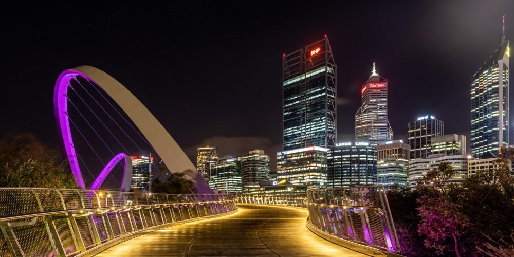 Perth (AU), Elizabeth Quay Bridge