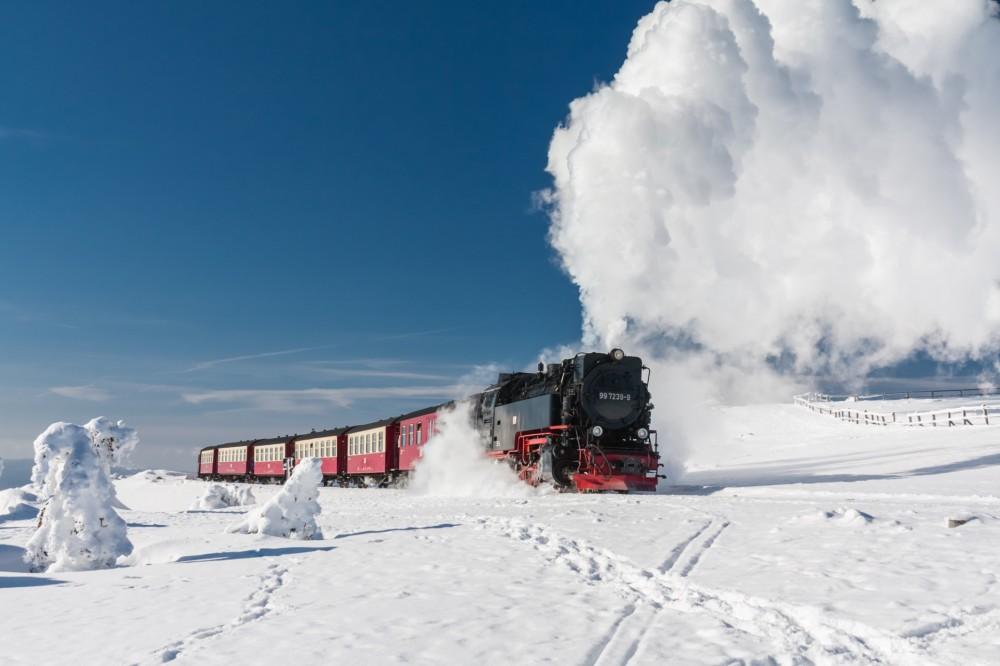 Harzquerbahn im Februar 2012